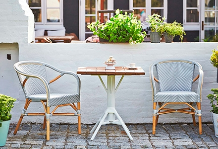 Sika Design - Madeleine, cafestol til haven